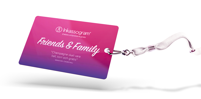 Inkassogram Friends & Family badge